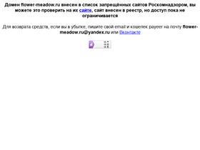 Аналитика трафика для flower-meadow.ru