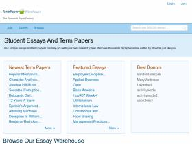 term paper warehouse username and password Of data warehouse username if you ever need to have your term papers written by professionals in a professional manner term paper warehouse password.